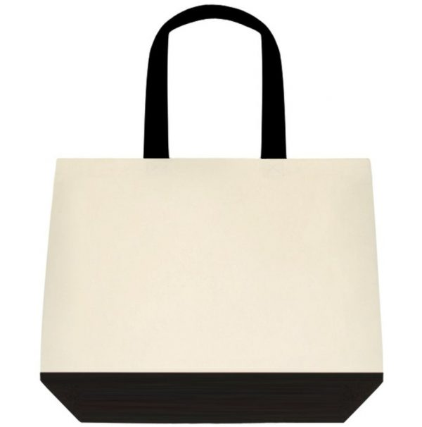 Inkden Logo Two Tone Deluxe Classic Cotton Tote Bags Reverse side