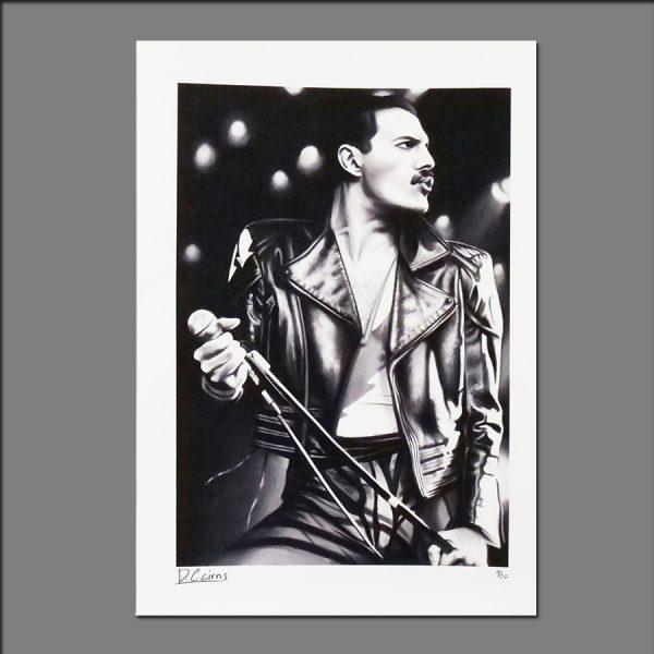 Print Freddie Mercury limited editions of 20 by David 2018
