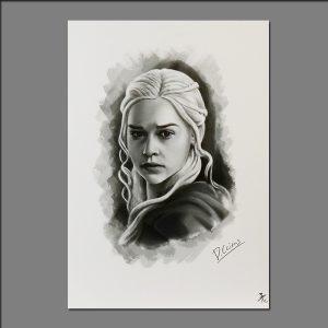 Print GOT Daenerys Targaryen limited editions of 20 by David