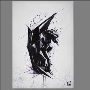Print Gargoyle from Digital painting by Maciek Nedynski