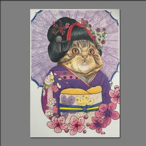 Print Geisha Cat limited editions of 20 by Holly