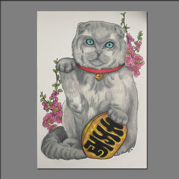 Print Lucky Cat limited editions of 20 by Holly