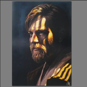 Print Obi-Wan Kenobi from Digital painting by Adrianna Grzelak 40