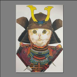 Print Samurai Cat Shining limited editions of 20 by Holly