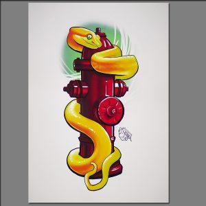 Print Snake from Digital painting by Adrianna Grzelak 40