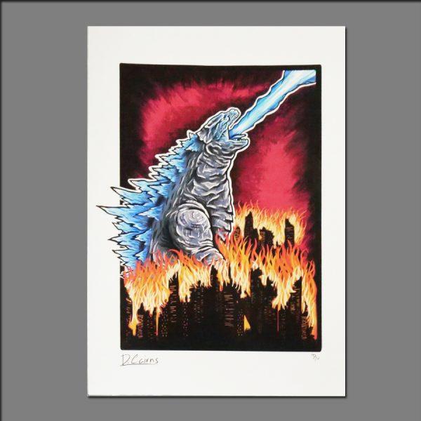 Print Godzilla by David