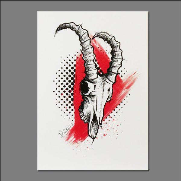 Print of skull by David