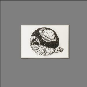 Print space traveller from ink on paper limited editions of 20 by David