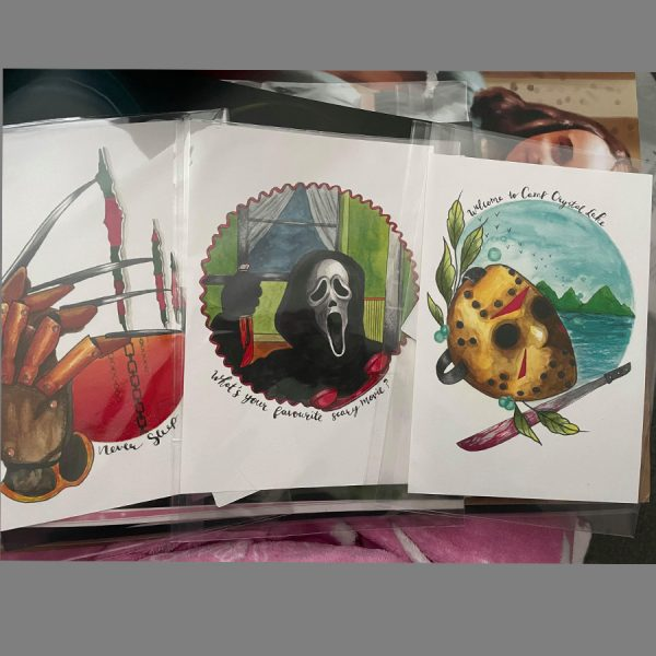 Prints horror set of 3 by Holly 14.8 x 21cm